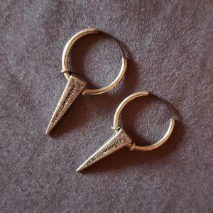Spoke hoop earrings